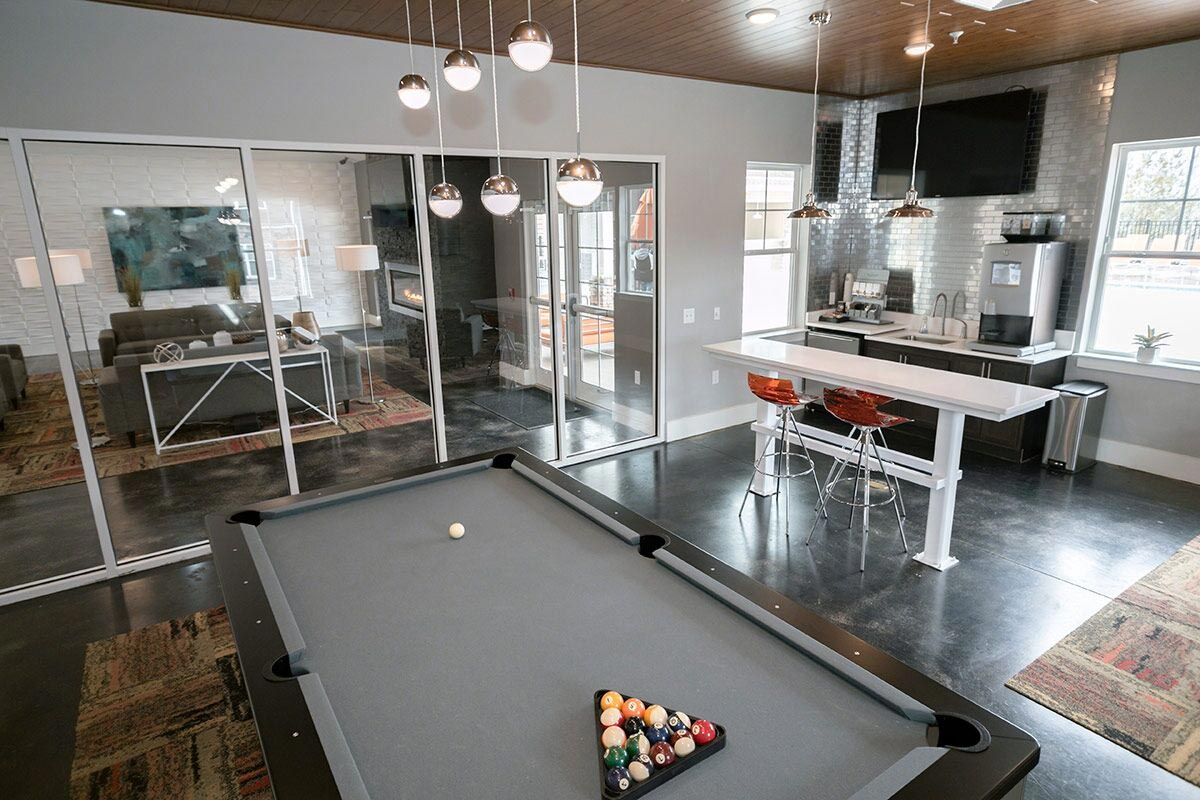 Evolve Companies Mountain View Apartments Asheville Pool Table