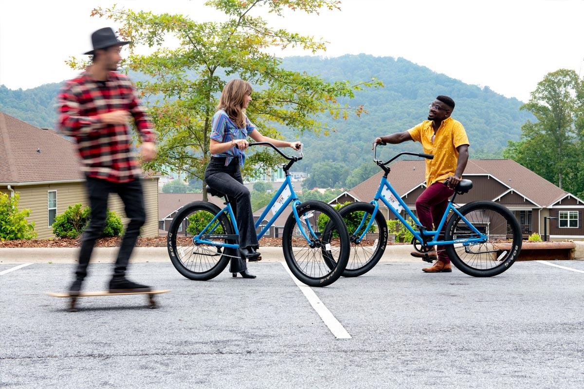 Evolve Companies Mountain View Apartments Asheville Bikes Skateboard