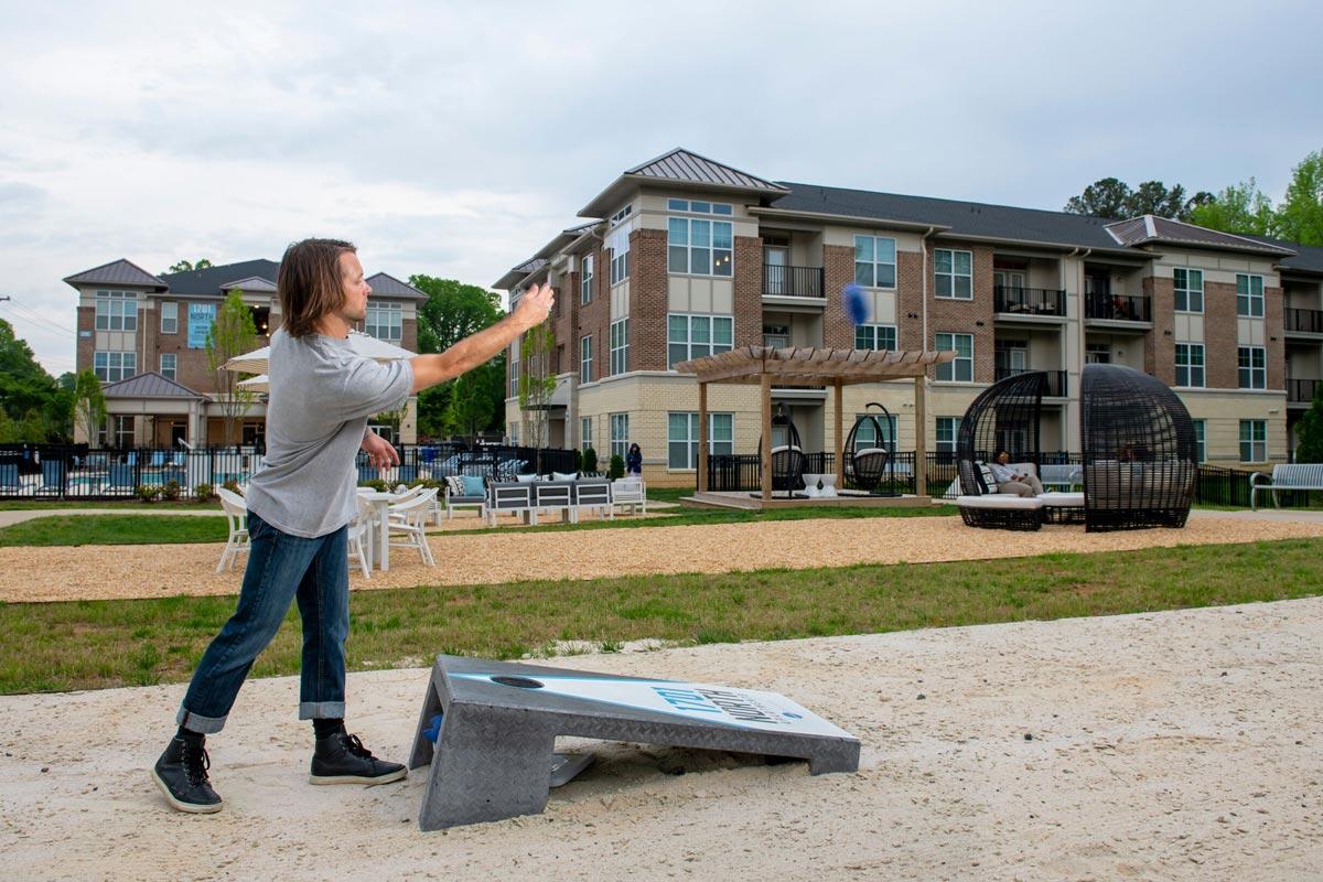Evolve Companies 1701 North Chapel Hill Apartments Amenities Cornhole