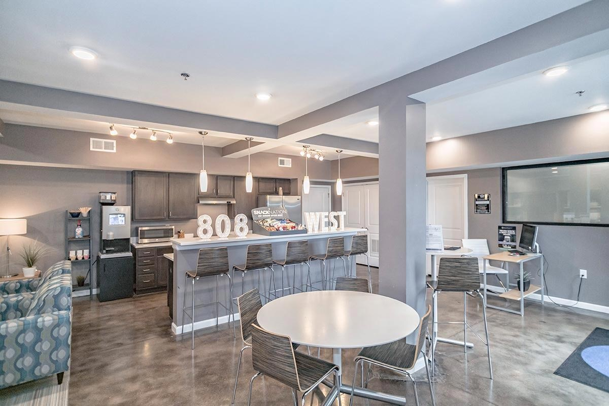 Evolve Companies 808 West Apartments Clubhouse