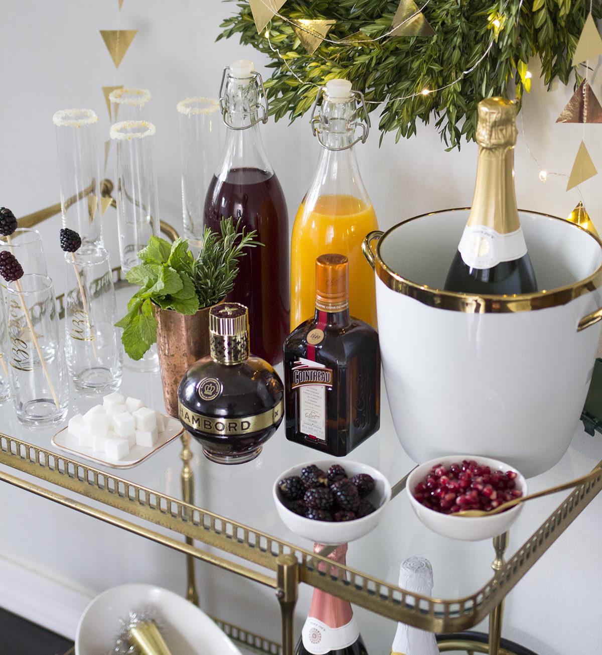 7 nye party decoration ideas bubbly bar