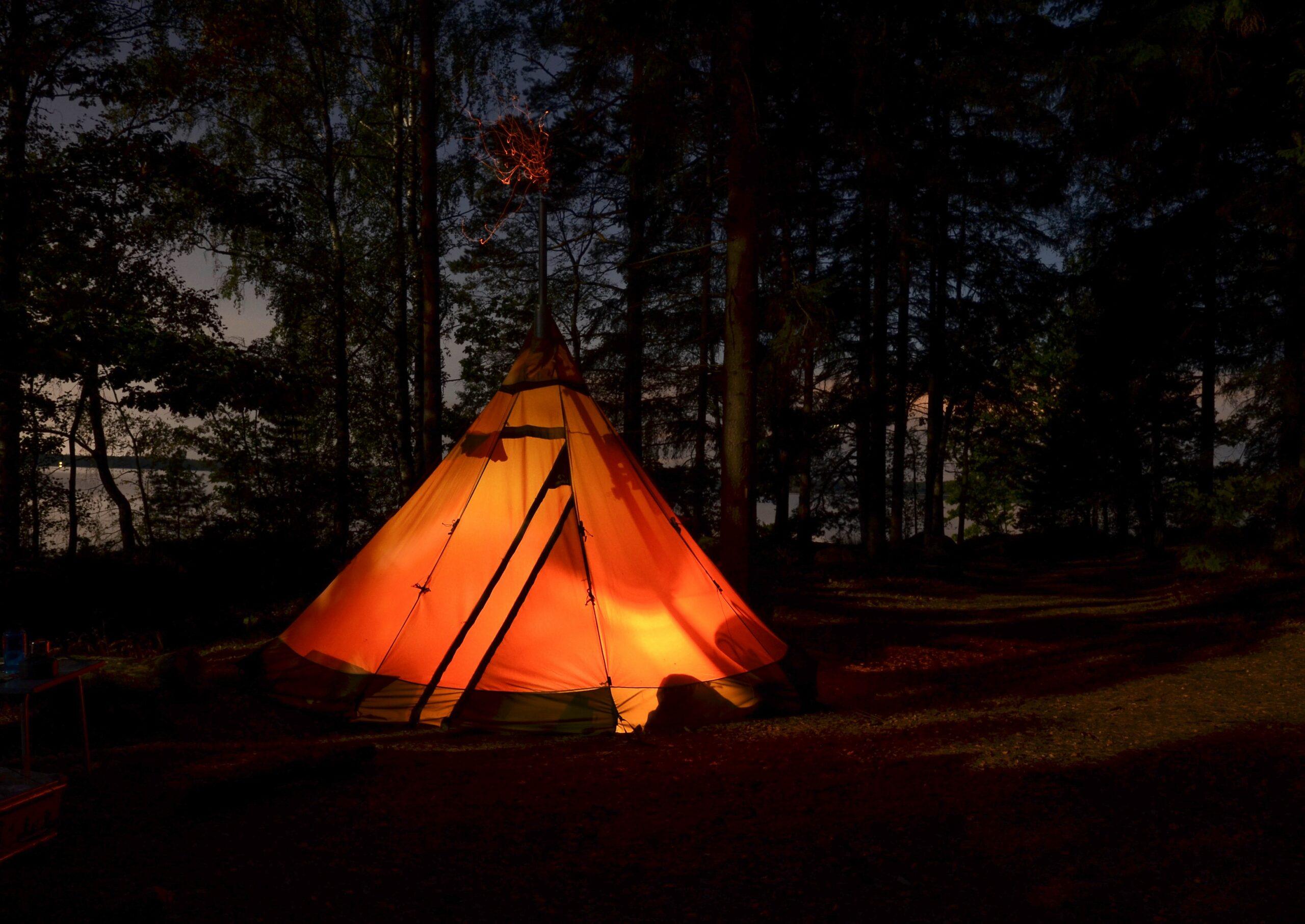 tent flashlight indoor camping halloween evolve blog
