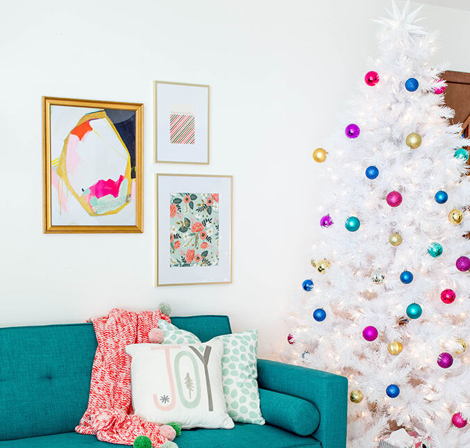 bright white christmas tree evolve blog