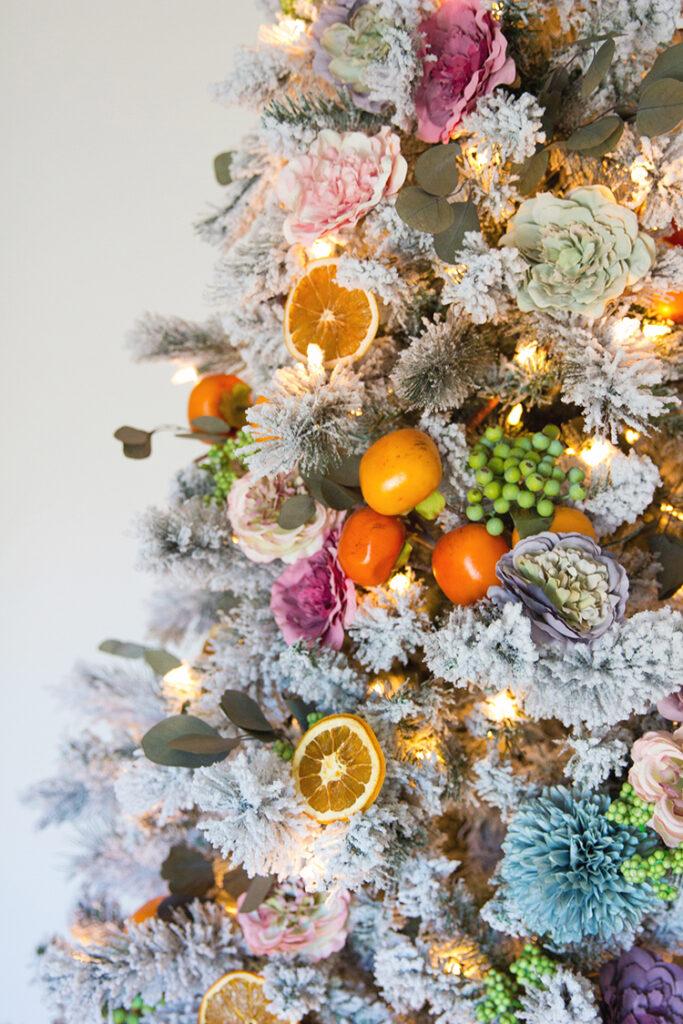 citrus christmas tree theme fruit