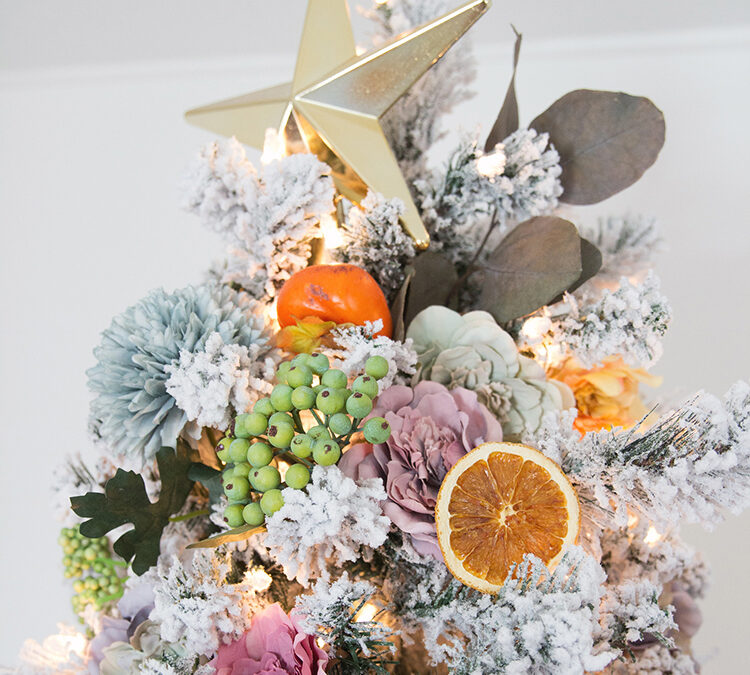 citrus christmas tree theme evolve blog