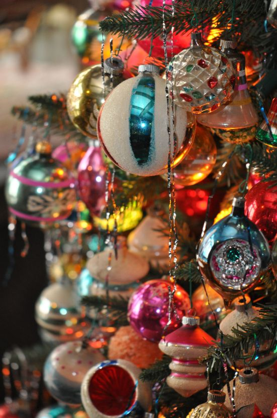vintage christmas tree theme evolve blog
