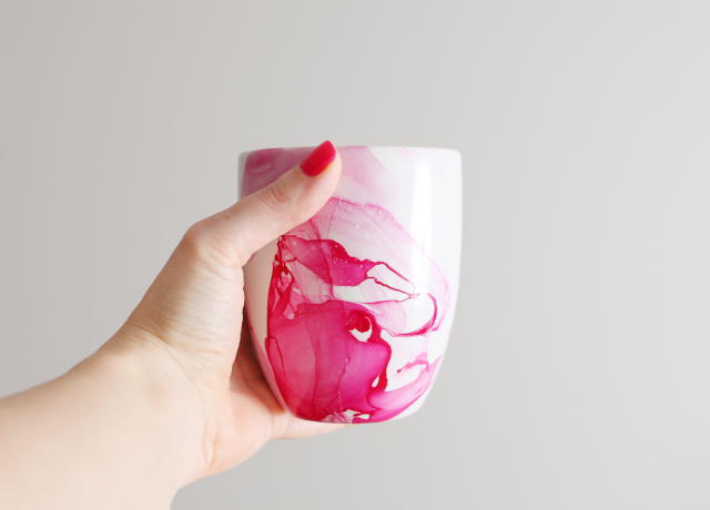 marble dipped mug for valentines day evolve blog