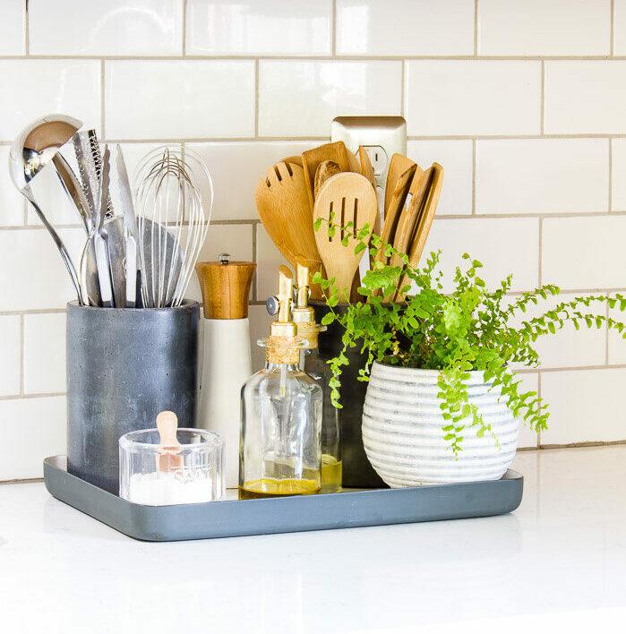kitchen organization counter tray evolve blog