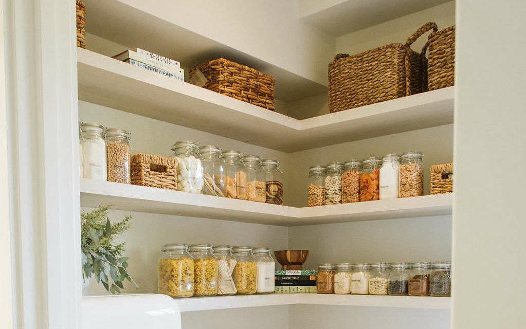 pantry glass jars kitchen organization evolve blog