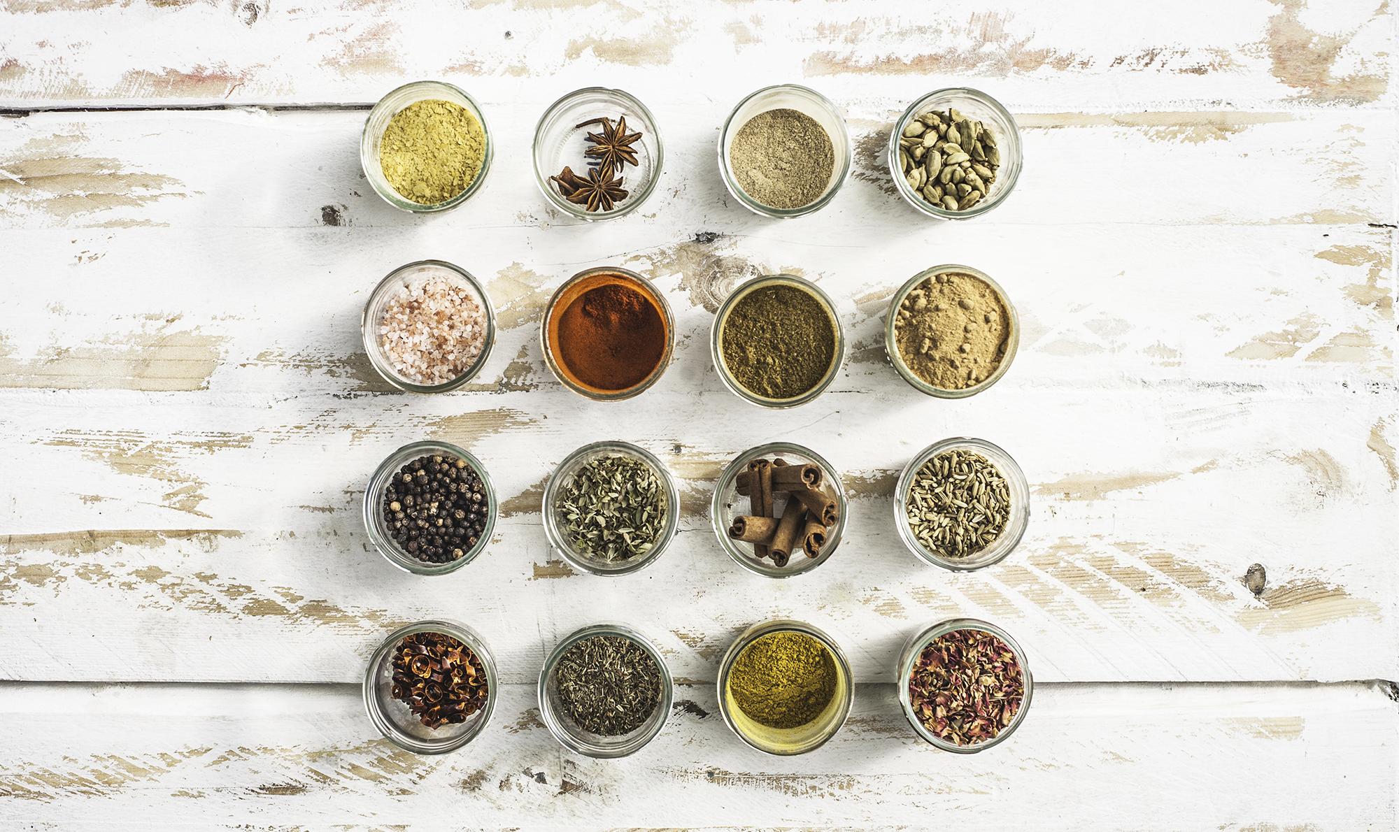 spices in jars kitchen organization evolve blog