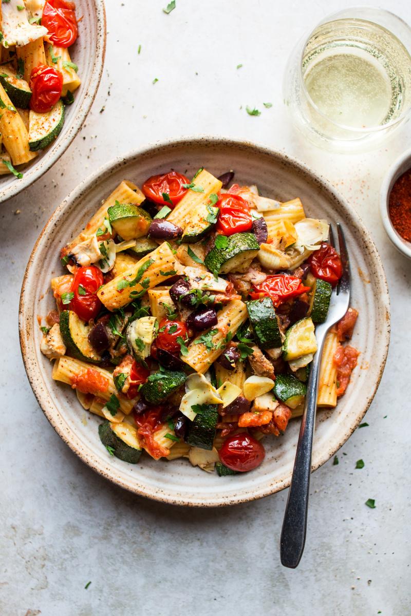 summer pasta evolve blog recipe